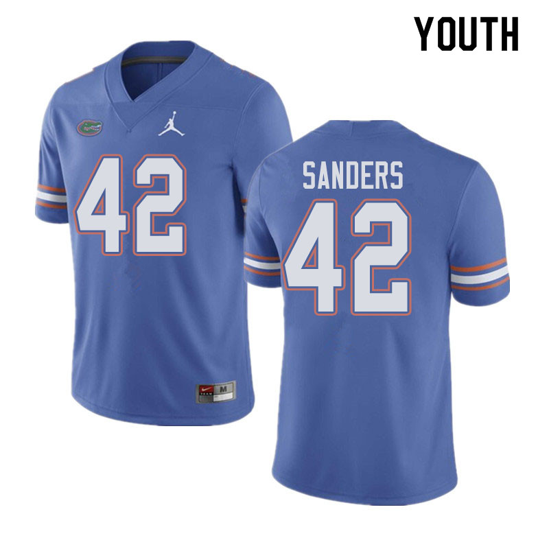Jordan Brand Youth #42 Umstead Sanders Florida Gators College Football Jerseys Sale-Blue